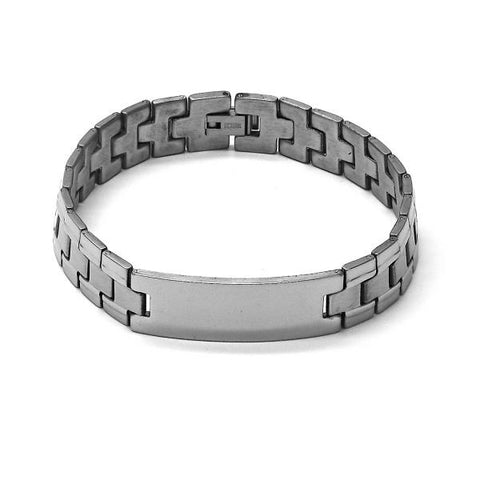 Stainless Steel 03.63.1476.08 Solid Bracelet, Polished Finish, Steel Tone