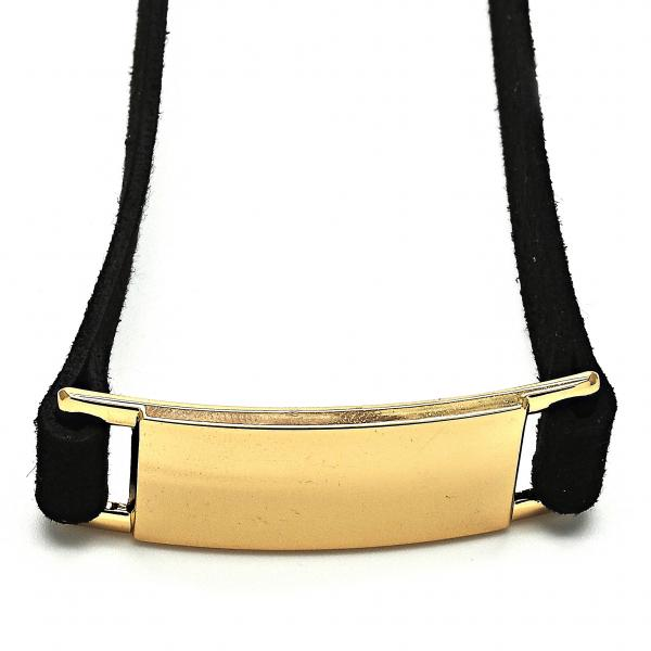 Gold Layered 04.215.0001.13 Fancy Necklace, Choker Design, Polished Finish, Golden Tone