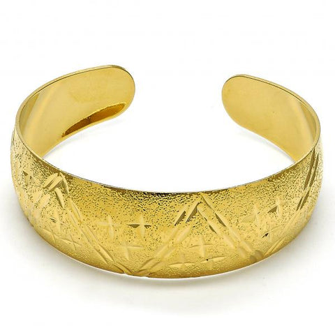 Gold Layered 07.156.0060 Individual Bangle, Matte Finish, Golden Tone (24 MM Thickness, One size fits all)