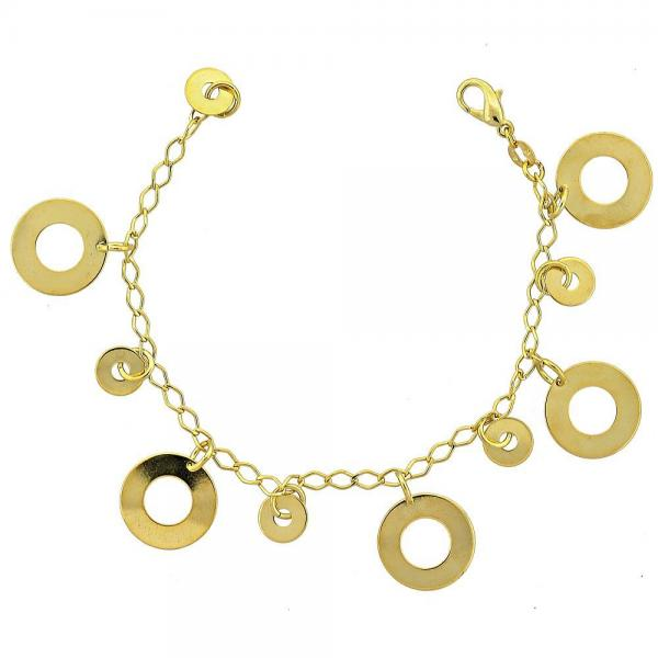 Gold Layered 030.009.08 Charm Bracelet, Polished Finish, Golden Tone