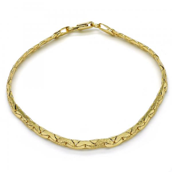 Gold Layered 04.63.1345.10 Basic Anklet, Matte Finish, Golden Tone