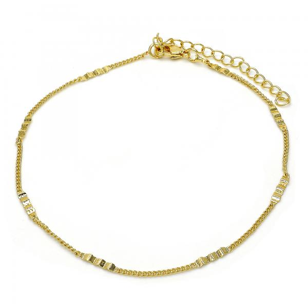 Gold Layered 03.318.0002.09 Fancy Anklet, Polished Finish, Golden Tone
