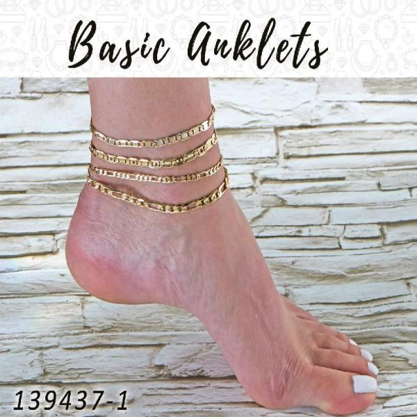 20 Basic Anklets in Gold Layered ($5.00) ea