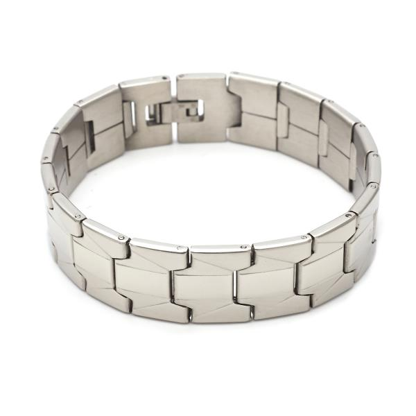 Stainless Steel 03.63.1651.08 Solid Bracelet, Polished Finish, Steel Tone