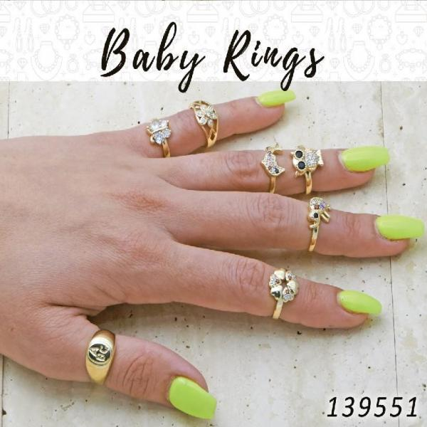 35 Baby Rings in Gold Layered ($2.85) ea