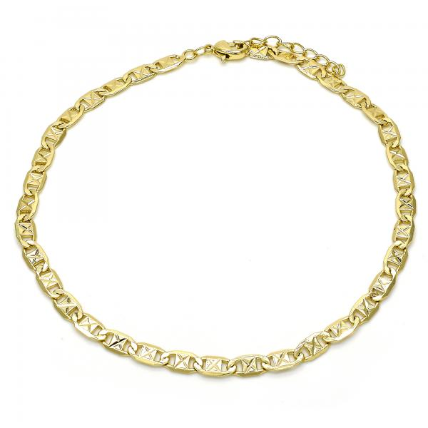 Gold Layered 04.213.0116.10 Basic Anklet, Polished Finish, Golden Tone