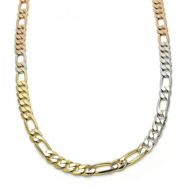 Gold Layered 04.65.0194.24 Fancy Necklace, Polished Finish, Tri Tone