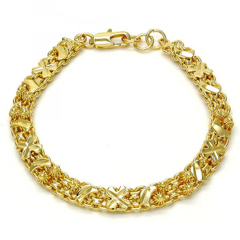 Gold Tone 03.168.0010.07.GT Fancy Bracelet, Moon Design, Polished Finish, Golden Tone