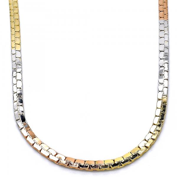 Gold Layered 04.65.0192.24 Fancy Necklace, Polished Finish, Tri Tone