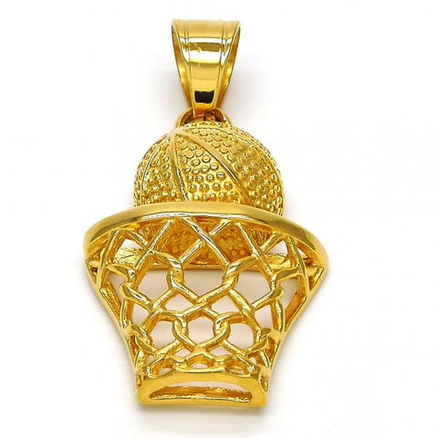 Stainless Steel 05.259.0001 Fancy Pendant, Ball Design, Polished Finish, Golden Tone
