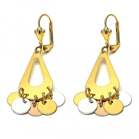 Gold Layered 02.32.0199 Chandelier Earring, Polished Finish, Tri Tone