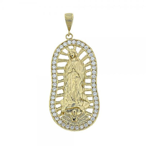 Gold Layered 5.184.008 Religious Pendant, Hand of God Design, with  Cubic Zirconia, Golden Tone