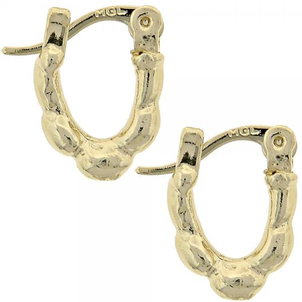 Gold Layered 5.159.083 Children Hoop, Diamond Cutting Finish, Golden Tone