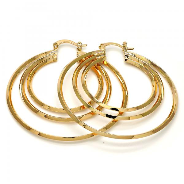 Gold Layered 02.261.0008.50 Large Hoop, Polished Finish, Gold Tone