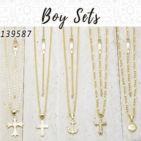 12 Boy Sets in Gold Layered ($8.33) ea