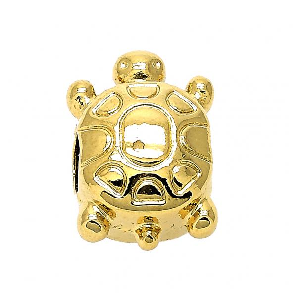 Gold Layered 05.179.0002 Love Link Pendant, Turtle Design, Golden Tone
