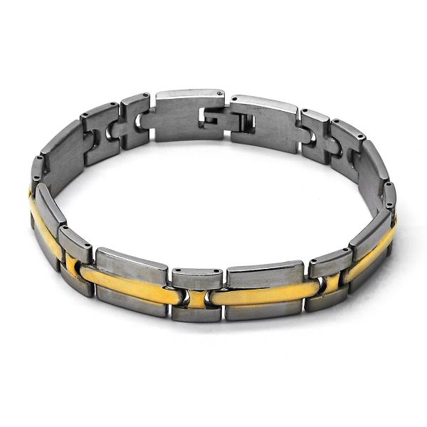 Stainless Steel 03.63.1467.08 Solid Bracelet, Polished Finish, Two Tone