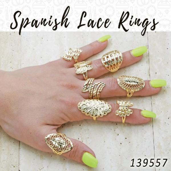 20 Spanish Lace Rings in Gold Layered ($5.00) ea