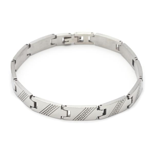 Stainless Steel 03.63.1553.08 Solid Bracelet, Polished Finish, Steel Tone