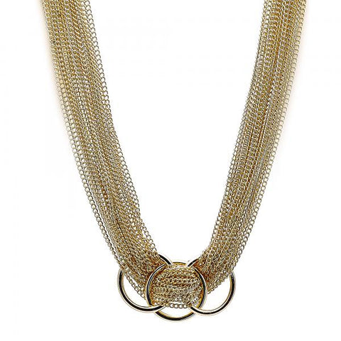 Gold Layered 04.321.0011.36 Fancy Necklace, Polished Finish, Golden Tone