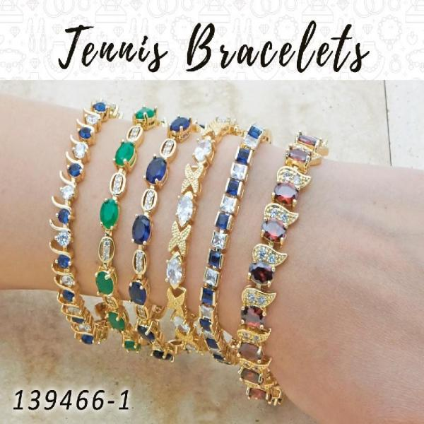 12 Tennis Bracelets in Gold Layered ($8.33) ea