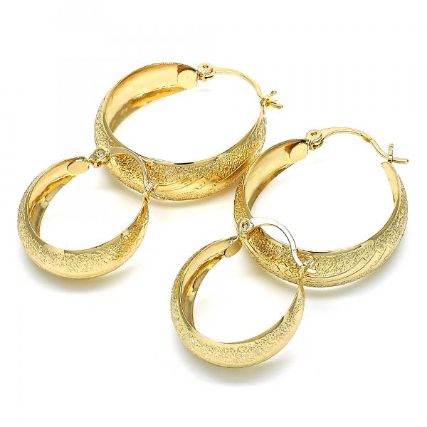 Gold Layered Small Hoop, Golden Tone