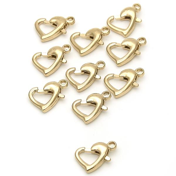 Gold Layered 12.63.0014 Lobster Clasp, Polished Finish, Golden Tone