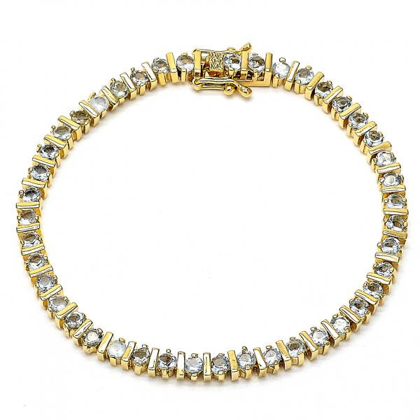 Gold Layered 03.60.0146 Tennis Bracelet, with White Cubic Zirconia, Polished Finish, Golden Tone