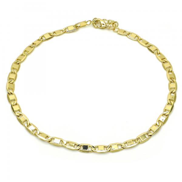 Gold Layered 04.213.0117.10 Basic Anklet, Polished Finish, Golden Tone