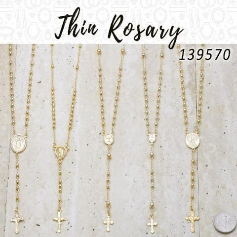 20 Thin Rosaries in Gold Layered ($5.00) ea