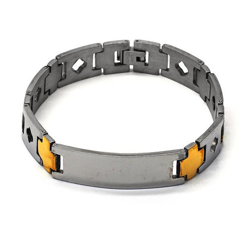 Stainless Steel 03.63.1461.08 ID Bracelet, Polished Finish, Two Tone