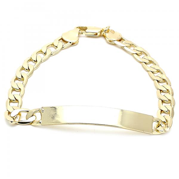 Gold Layered 03.168.0021.08 ID Bracelet, Polished Finish, Golden Tone