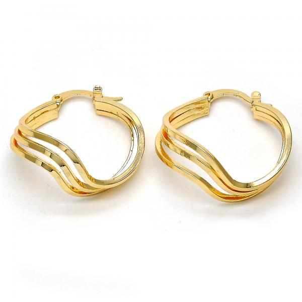 Gold Layered 02.170.0133.25 Small Hoop, Polished Finish, Golden Tone