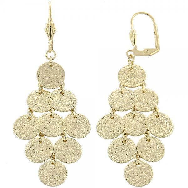Gold layered 02632208 chandelier earring matte finish golden gold layered 02632208 chandelier earring matte finish golden tone aloadofball Image collections