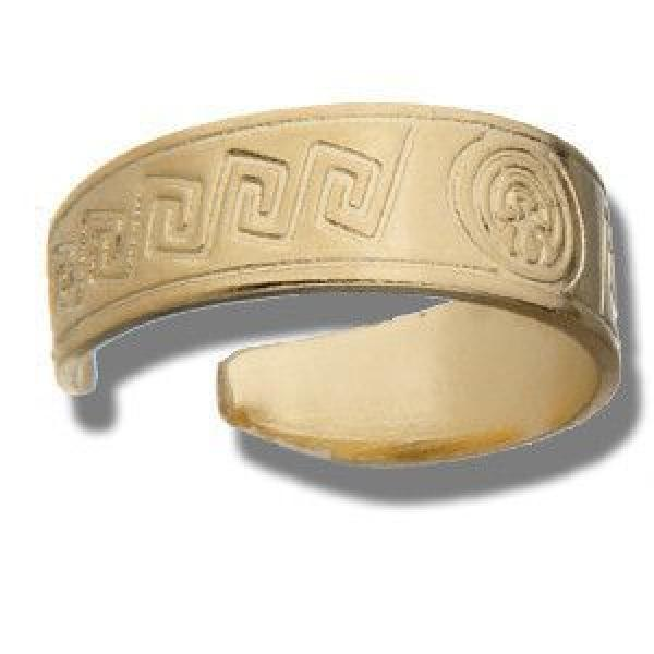 Gold Layered 01.63.0092 Toe Ring, Greek Key Design, Polished Finish, Golden Tone