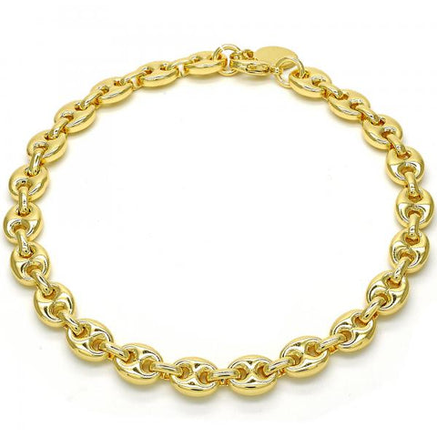 Gold Layered 04.63.1311.10 Fancy Anklet, Polished Finish, Golden Tone