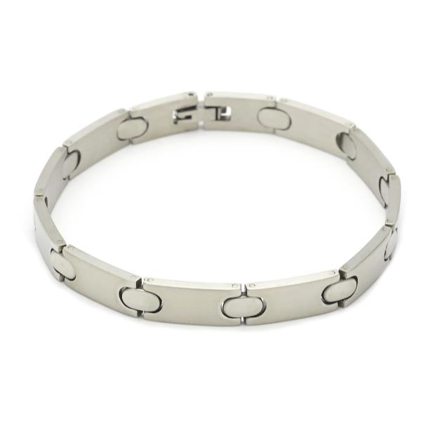 Stainless Steel 03.63.1608.08 Solid Bracelet, Polished Finish, Steel Tone