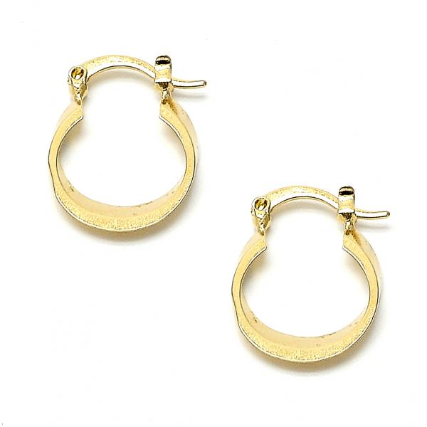 Gold Layered 02.63.1082 Small Hoop, Polished Finish, Golden Tone