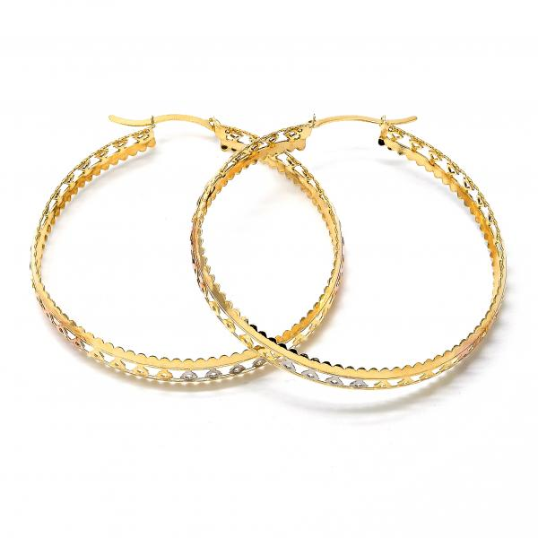 Gold Layered 02.32.0280 Large Hoop, Polished Finish, Tri Tone