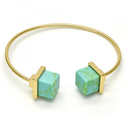 Gold Tone Individual Bangle, with Opal, Golden Tone