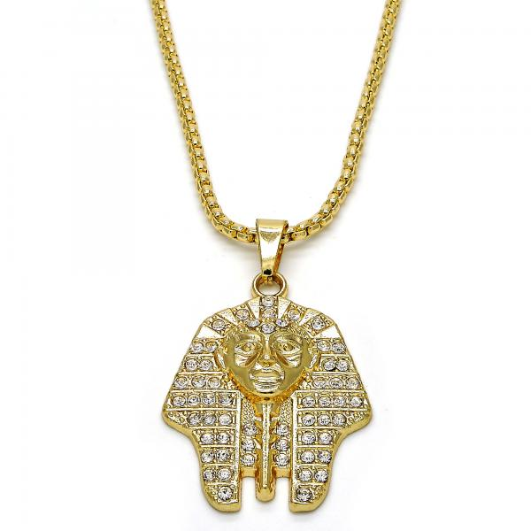 Gold Layered 04.242.0061.30 Pendant Necklace, with White Crystal, Polished Finish, Golden Tone