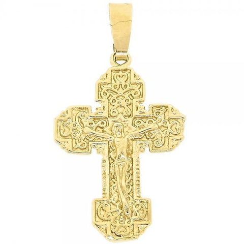 Gold Layered 5.190.011 Religious Pendant, Bee Design, Diamond Cutting Finish, Golden Tone