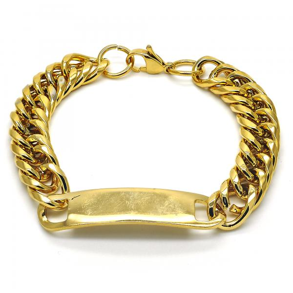 Stainless Steel 03.269.0006.08 ID Bracelet, Polished Finish, Golden Tone