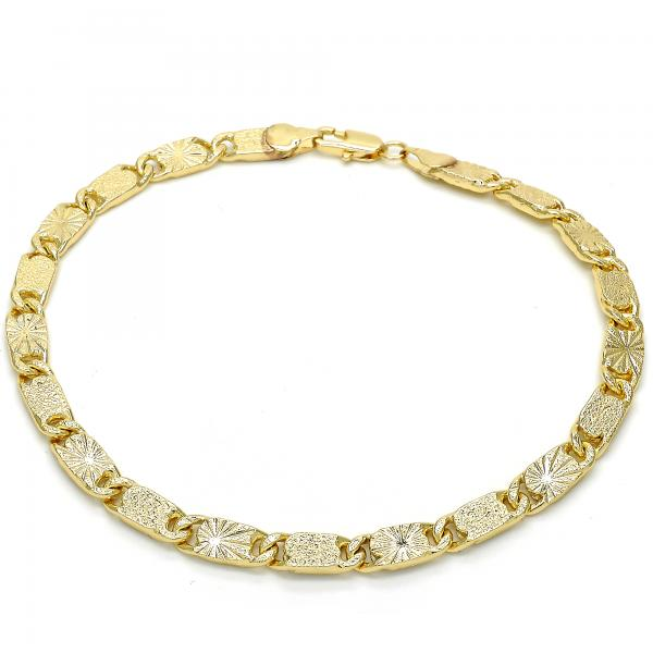 Gold Layered 03.145.0007.10 Basic Anklet, Polished Finish, Golden Tone