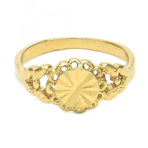 Gold Layered Elegant Ring, Flower Design, Golden Tone