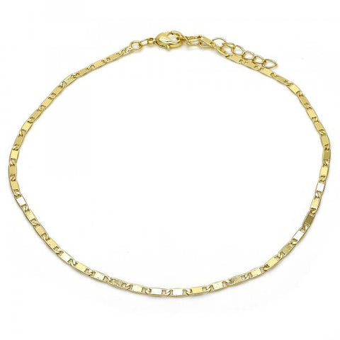 Gold Layered 04.213.0096.10 Basic Anklet, Polished Finish, Golden Tone
