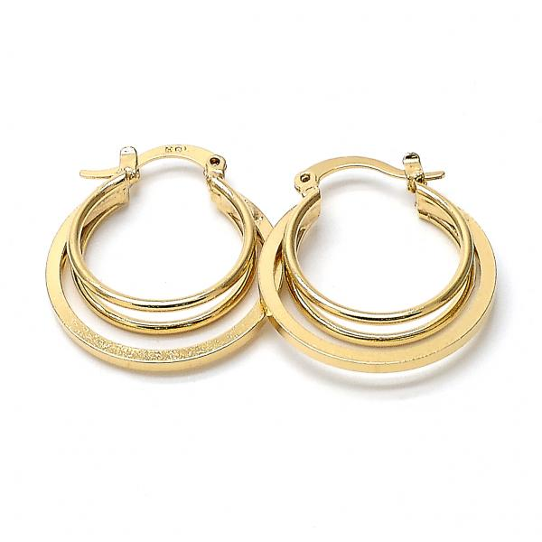 Gold Layered 5.142.010 Small Hoop, Polished Finish, Golden Tone