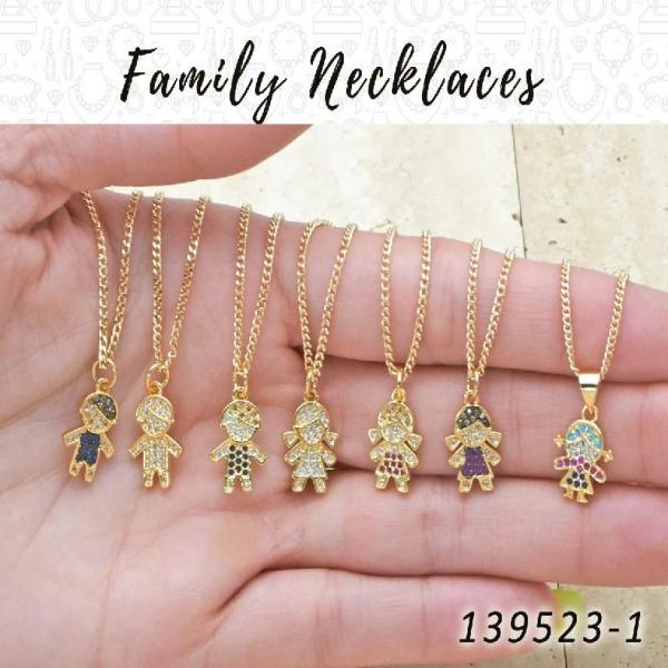 25 Family Necklaces in Gold Layered ($4.00) ea
