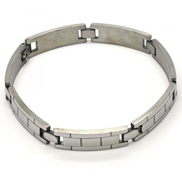 Stainless Steel 03.114.0294.09 Solid Bracelet, Polished Finish, Steel Tone