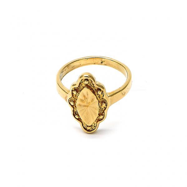 Gold Layered Elegant Ring, Golden Tone